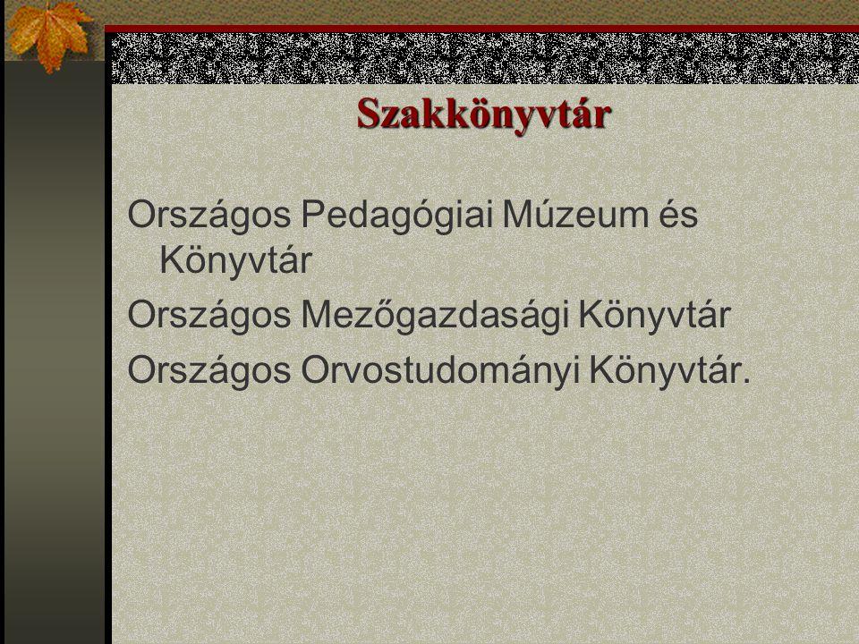Szakkönyvtár Országos Pedagógiai Múzeum és Könyvtár