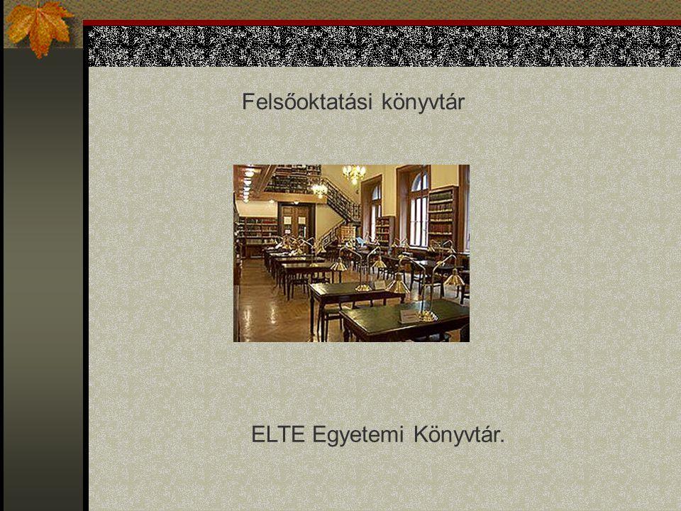 Felsőoktatási könyvtár