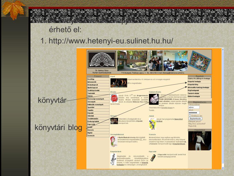 A mi könyvtárunk honlapja a következő módon érhető el:
