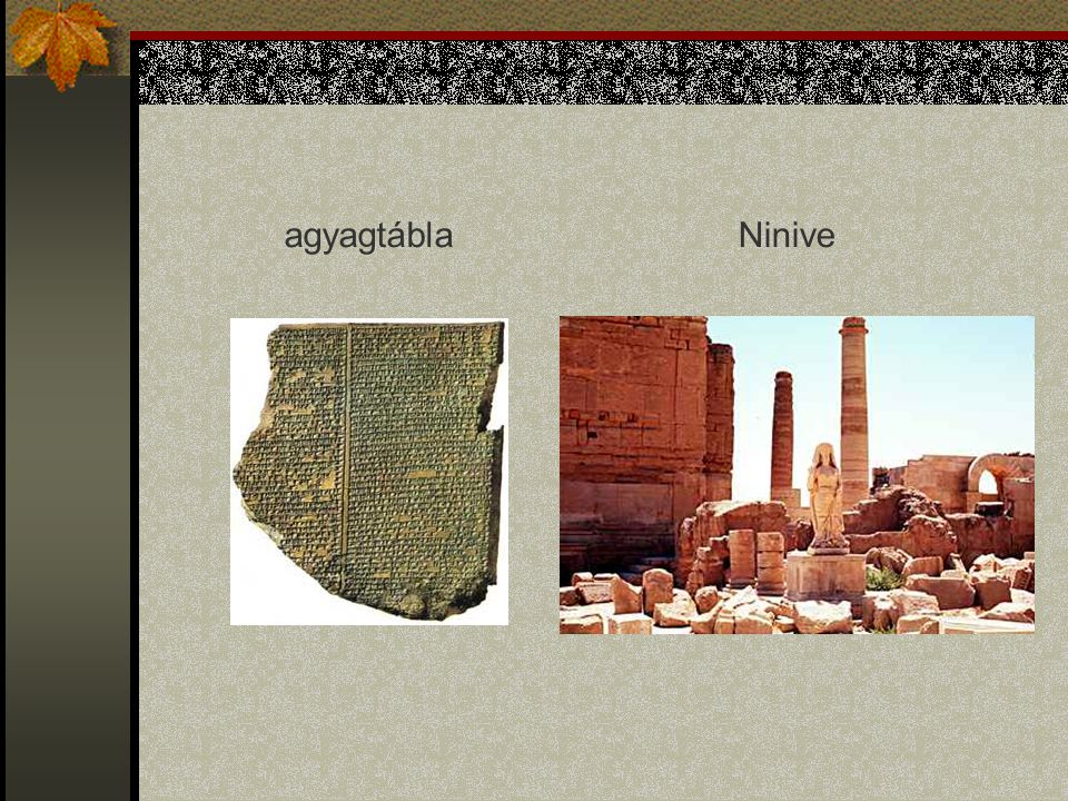agyagtábla Ninive