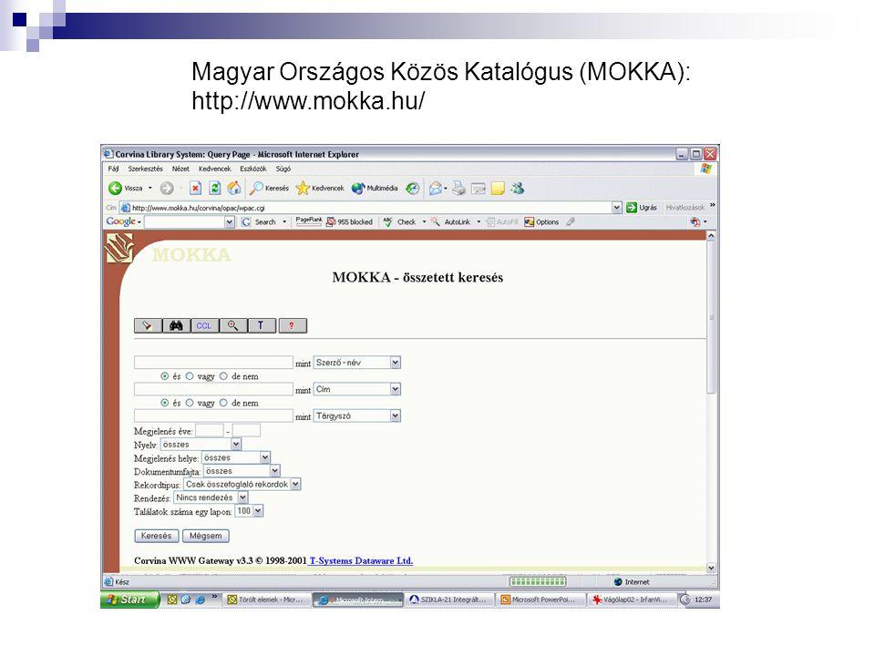 Magyar Országos Közös Katalógus (MOKKA):
