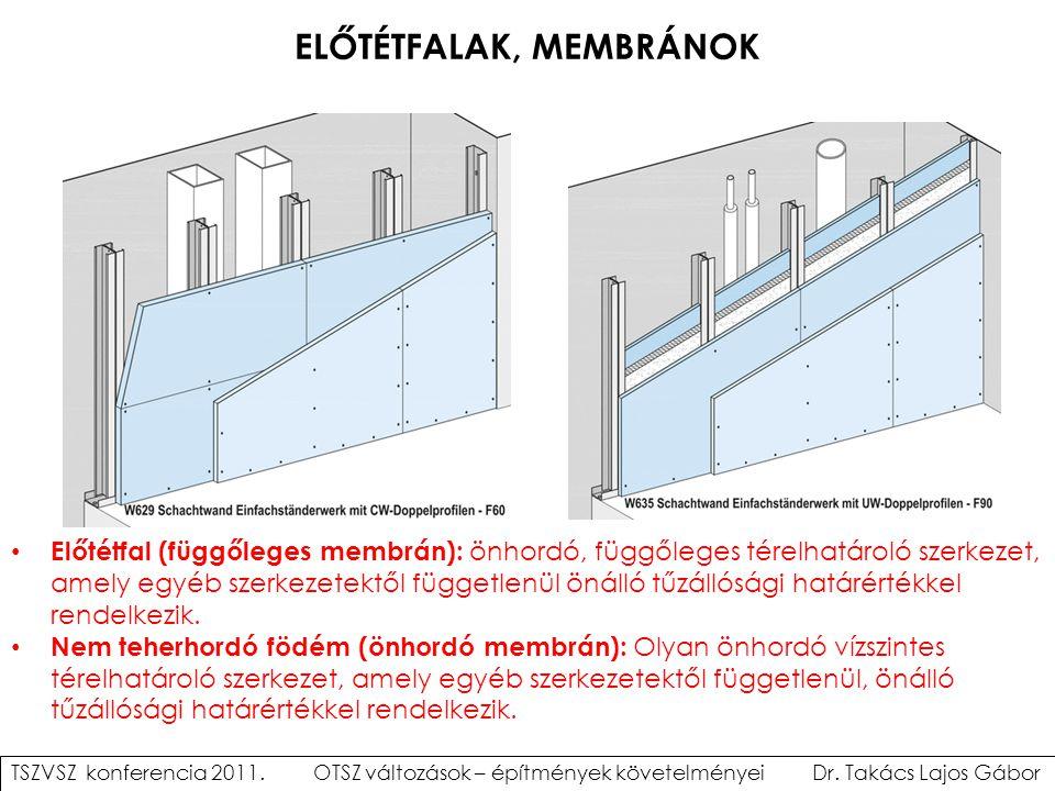 ELŐTÉTFALAK, MEMBRÁNOK