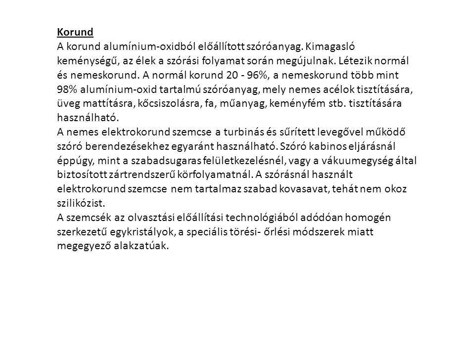 Korund A korund alumínium-oxidból előállított szóróanyag