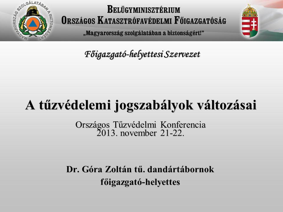 Dr. Góra Zoltán tű. dandártábornok főigazgató-helyettes