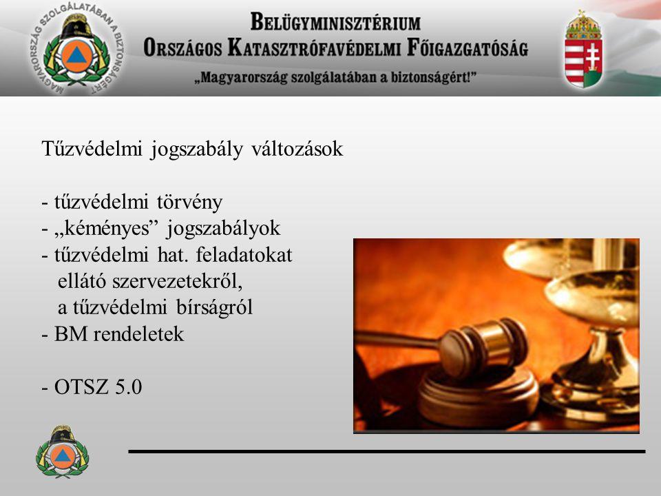 Tűzvédelmi jogszabály változások - tűzvédelmi törvény