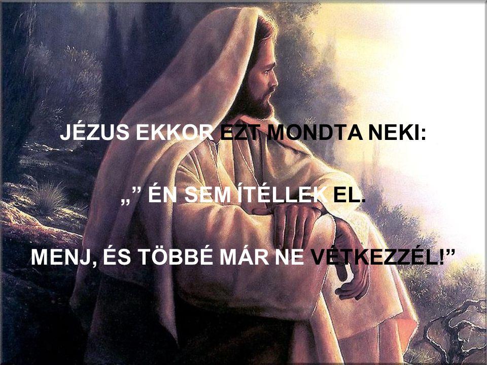 JÉZUS EKKOR EZT MONDTA NEKI: MENJ, ÉS TÖBBÉ MÁR NE VÉTKEZZÉL!