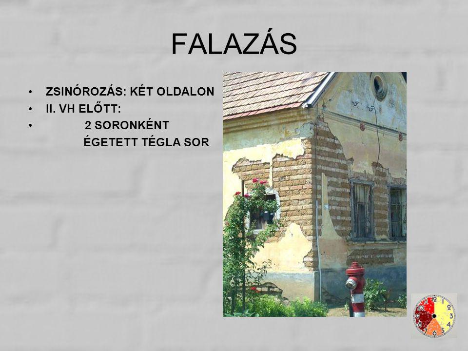 FALAZÁS ZSINÓROZÁS: KÉT OLDALON II. VH ELŐTT: 2 SORONKÉNT