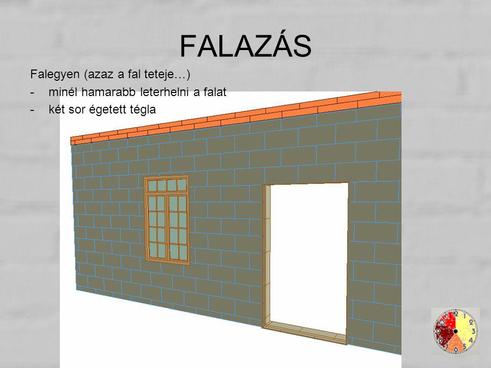 FALAZÁS Falegyen (azaz a fal teteje…)