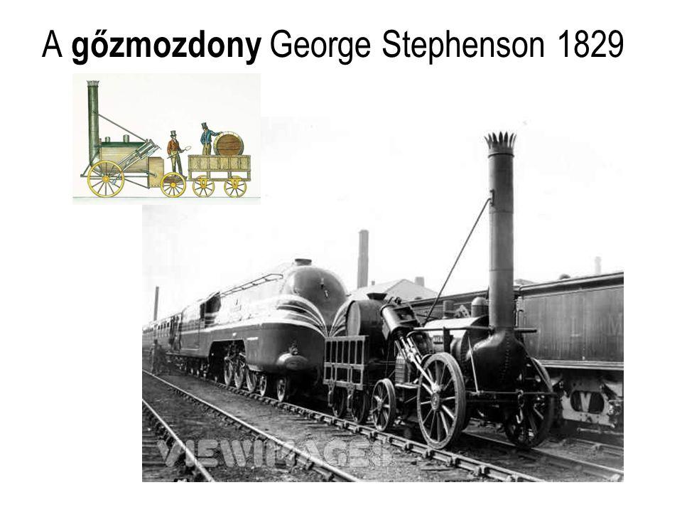 A gőzmozdony George Stephenson 1829