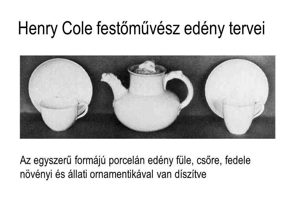 Henry Cole festőművész edény tervei