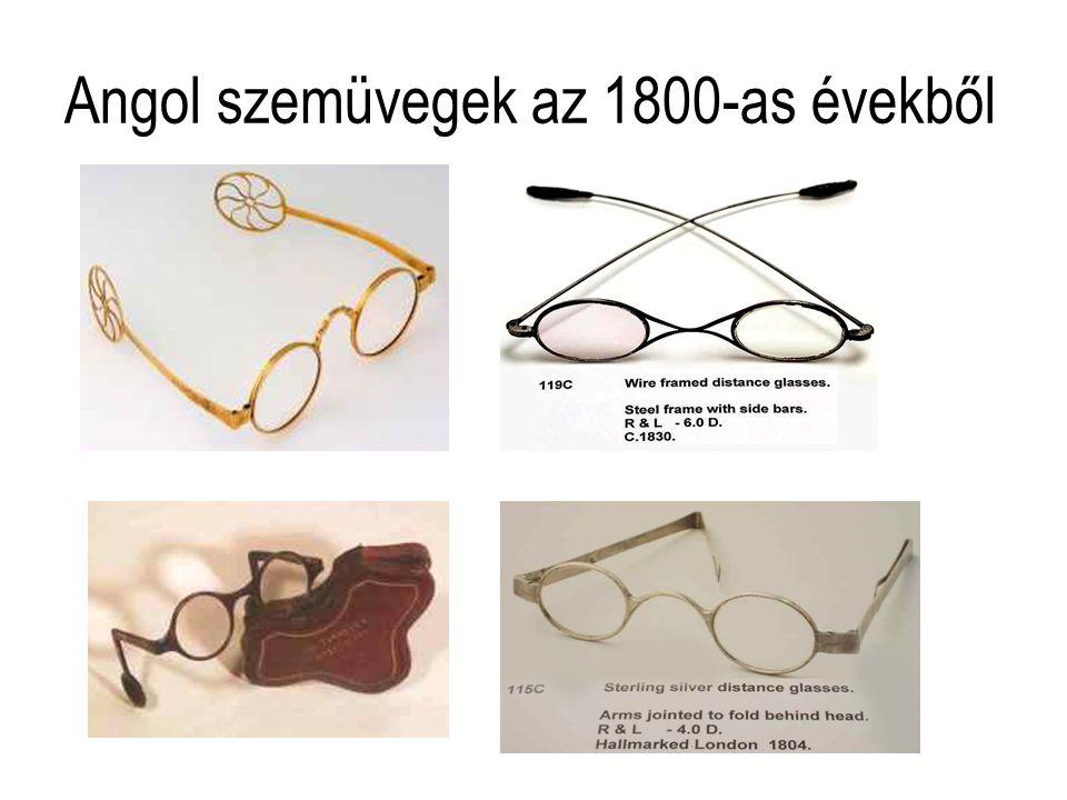Angol szemüvegek az 1800-as évekből
