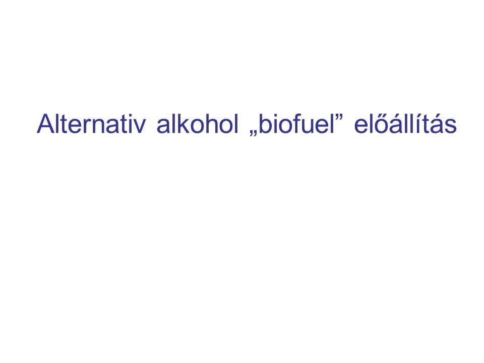 """Alternativ alkohol """"biofuel előállítás"""