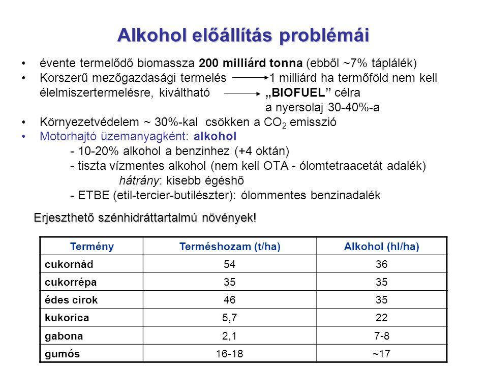 Alkohol előállítás problémái