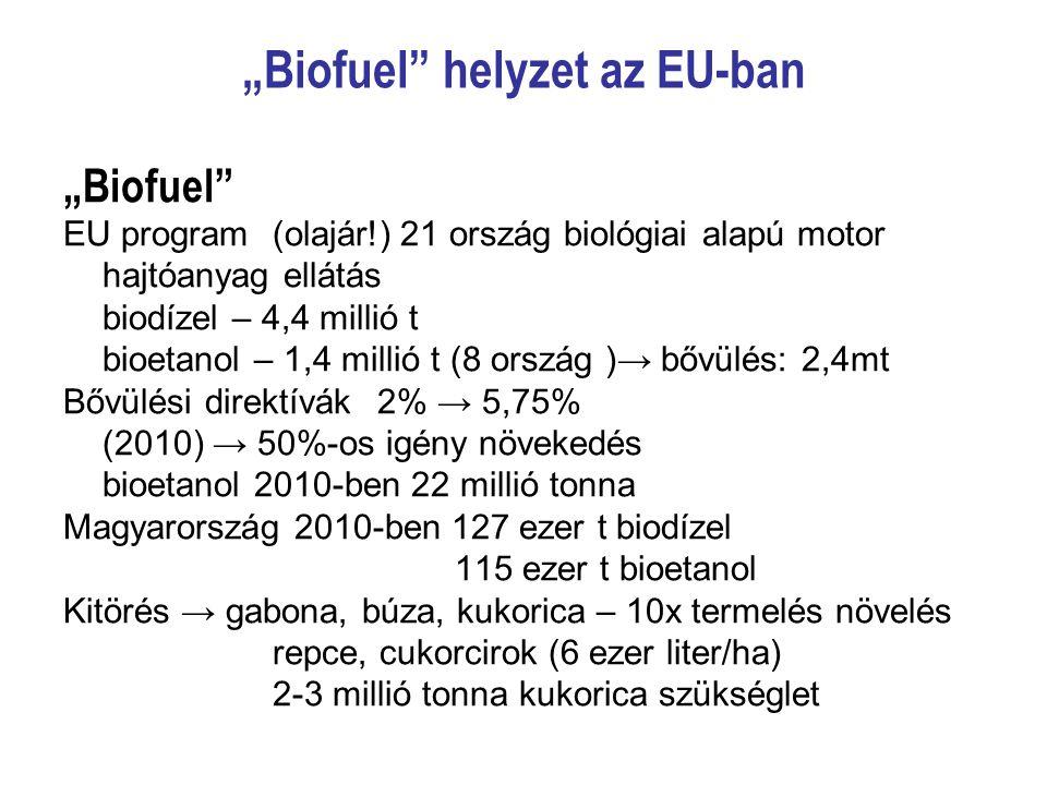 """""""Biofuel helyzet az EU-ban"""