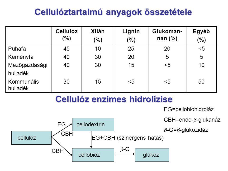 Cellulóztartalmú anyagok összetétele