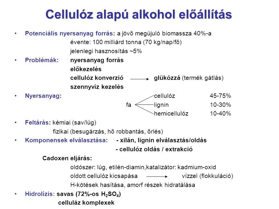 Cellulóz alapú alkohol előállítás
