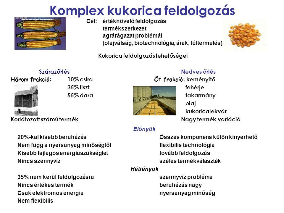 Komplex kukorica feldolgozás