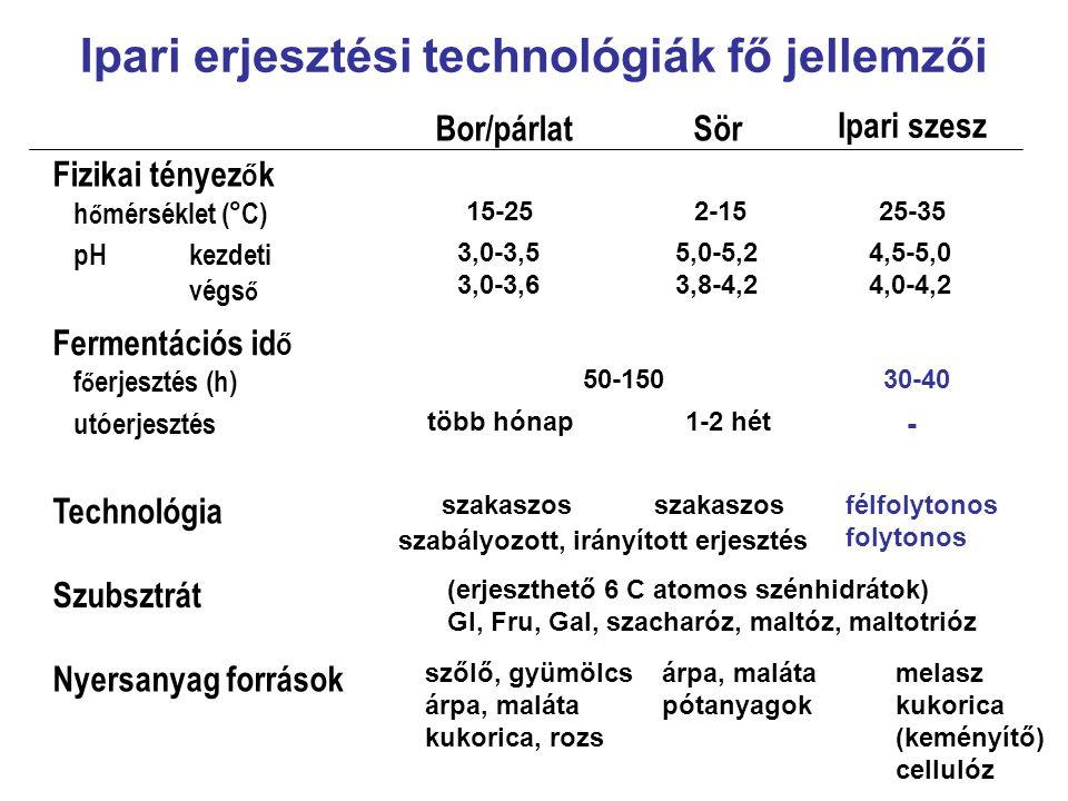 Ipari erjesztési technológiák fő jellemzői