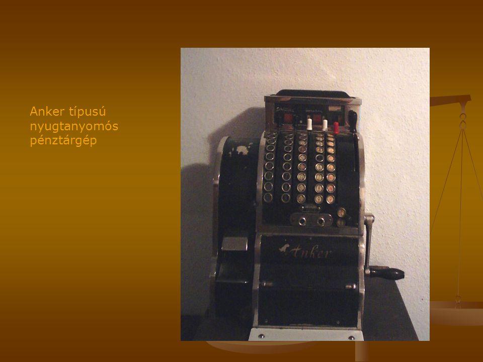 Anker típusú nyugtanyomós pénztárgép