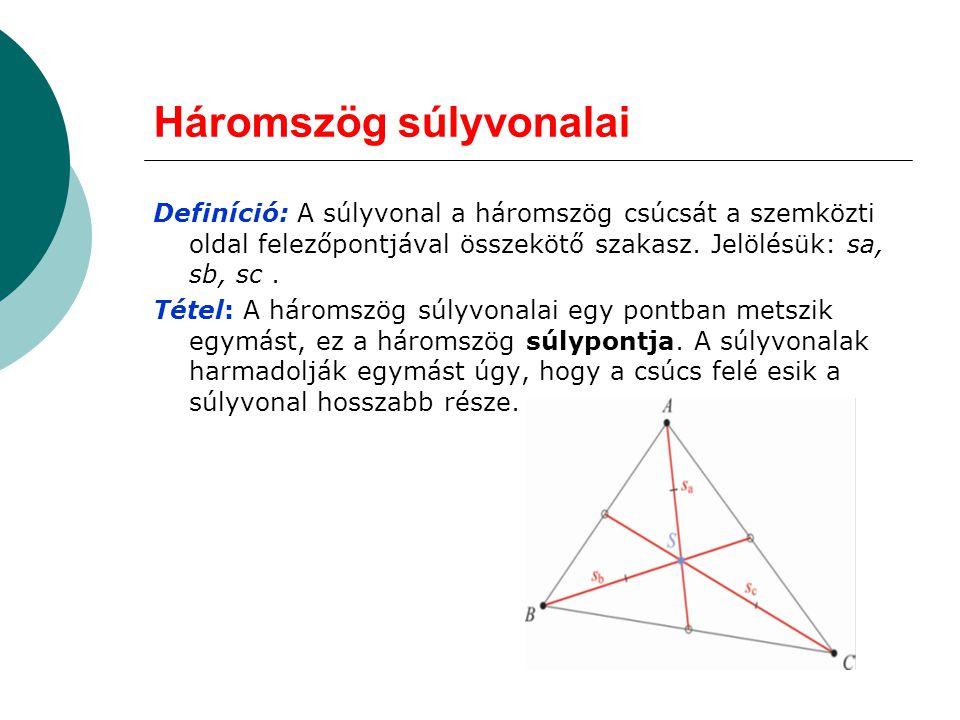 Háromszög súlyvonalai