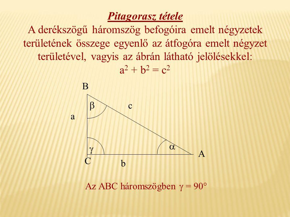 Pitagorasz tétele