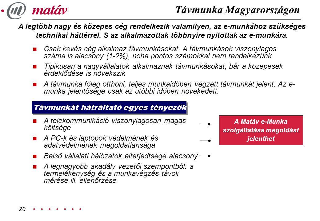 A Matáv e-Munka szolgáltatása megoldást jelenthet