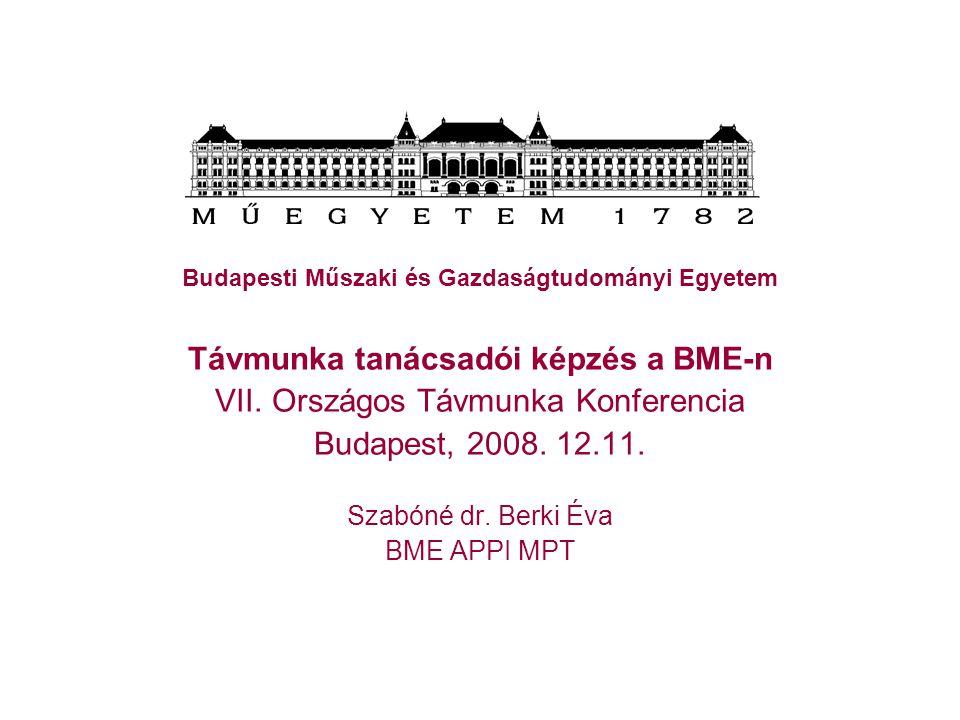 Távmunka tanácsadói képzés a BME-n