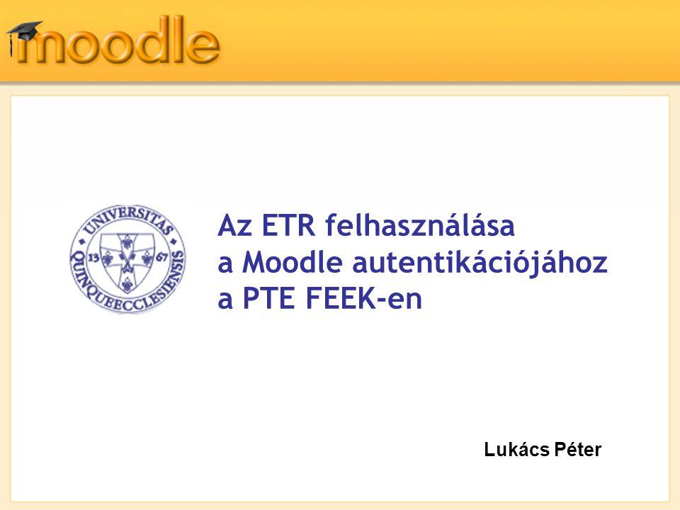 a Moodle autentikációjához a PTE FEEK-en
