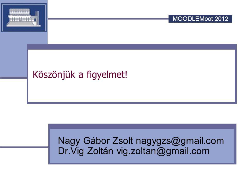 Nagy Gábor Zsolt nagygzs@gmail.com Dr.Vig Zoltán vig.zoltan@gmail.com