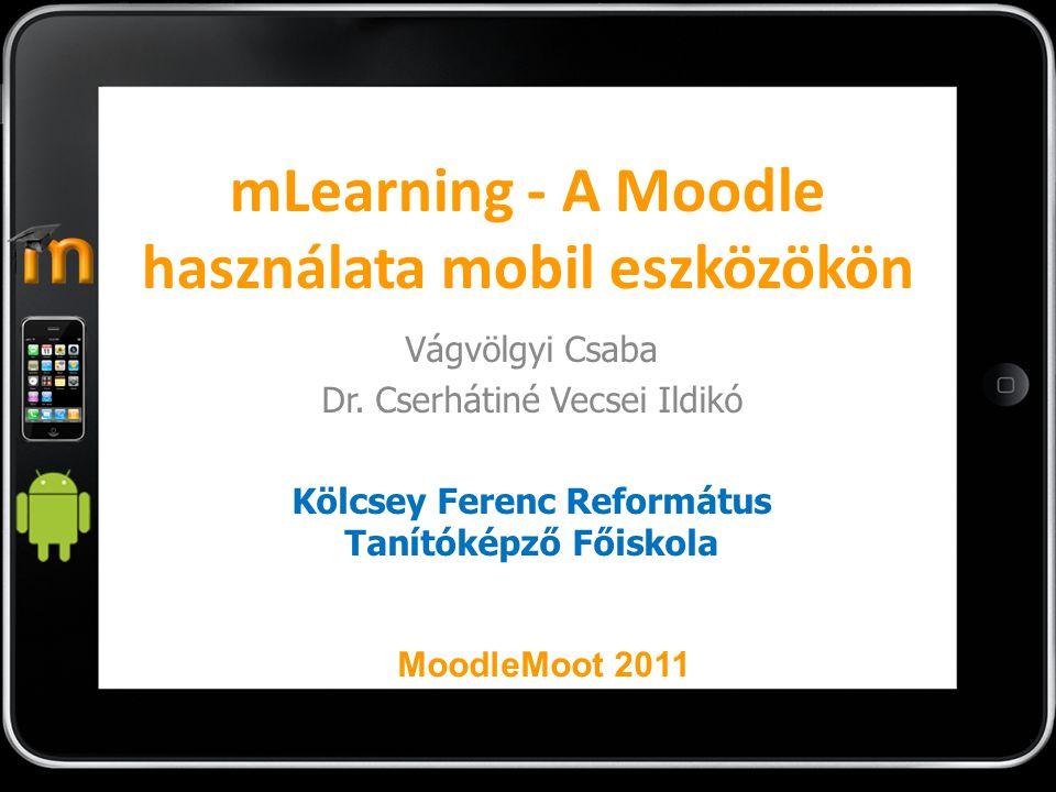 mLearning - A Moodle használata mobil eszközökön