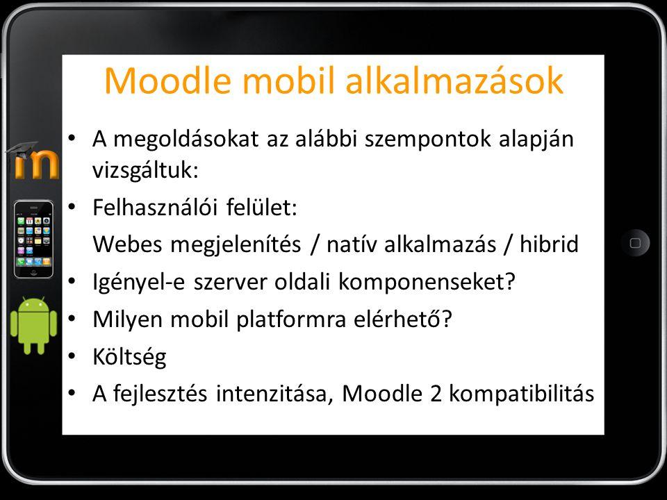 Moodle mobil alkalmazások