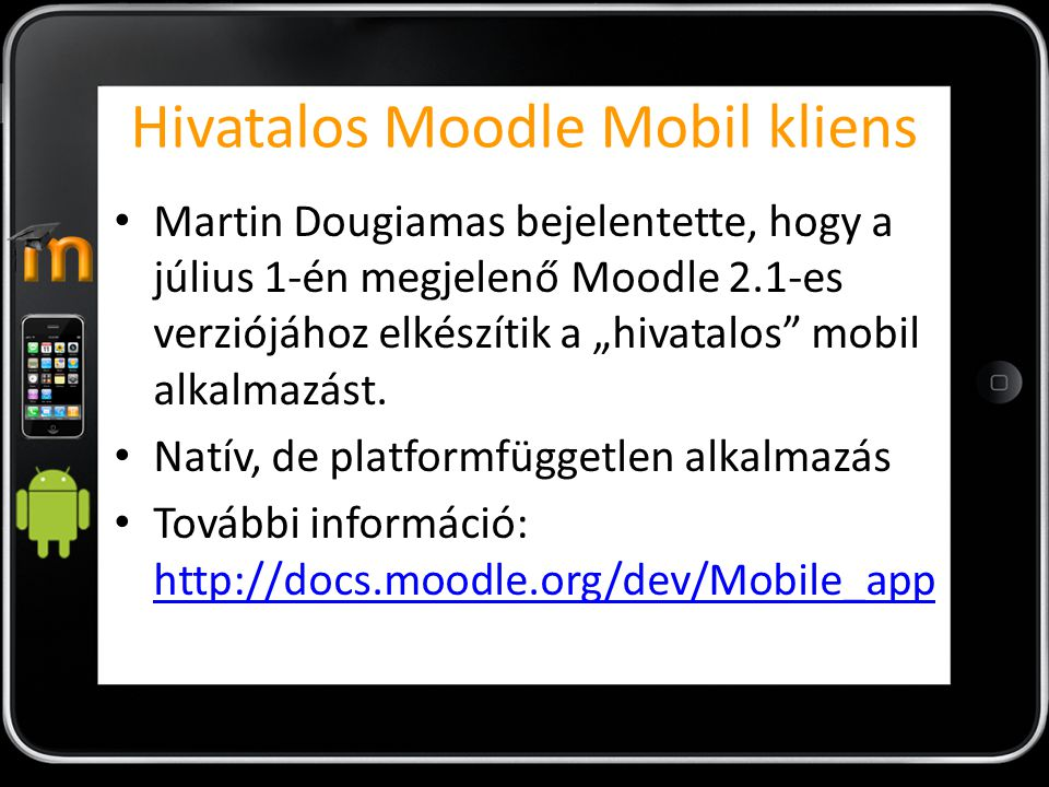 Hivatalos Moodle Mobil kliens