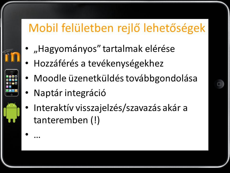 Mobil felületben rejlő lehetőségek