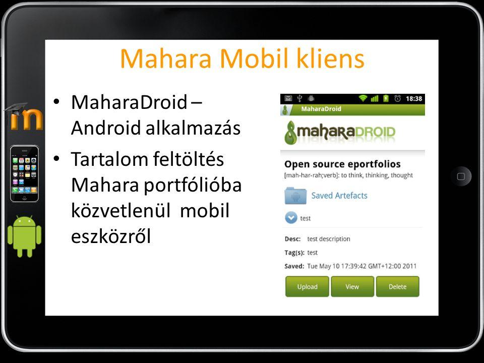 Mahara Mobil kliens MaharaDroid – Android alkalmazás