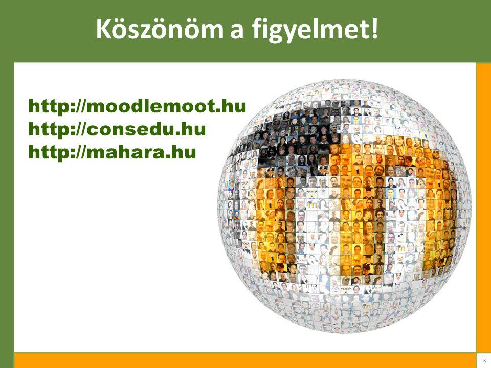 Köszönöm a figyelmet! http://moodlemoot.hu http://consedu.hu