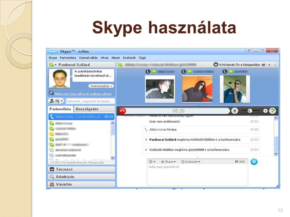 Skype használata
