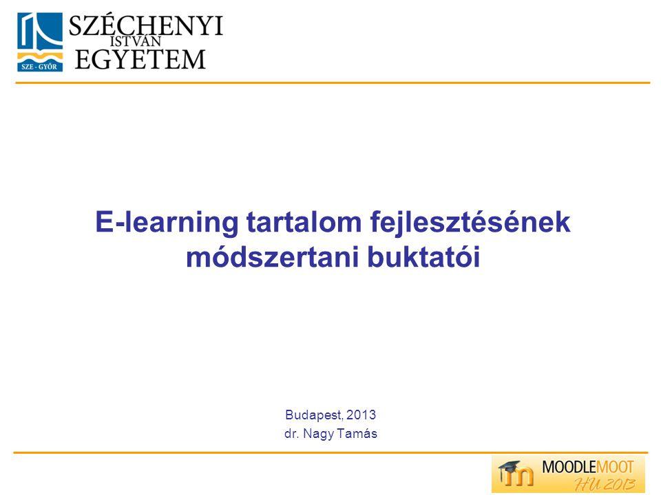 E-learning tartalom fejlesztésének módszertani buktatói
