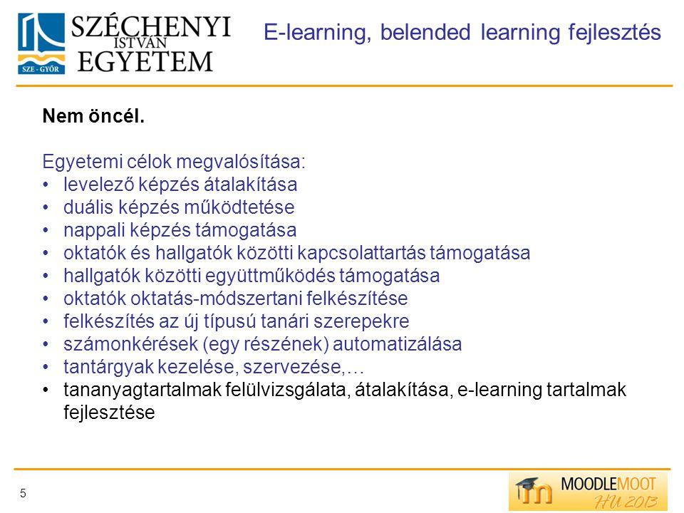 E-learning, belended learning fejlesztés