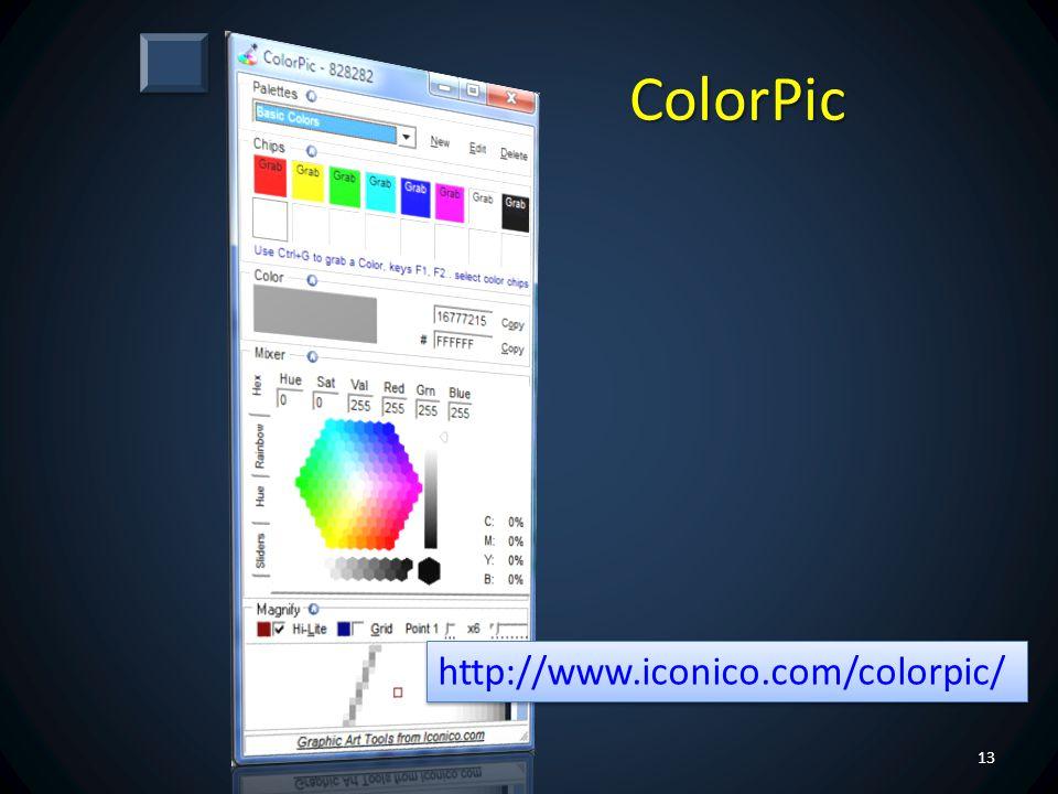ColorPic http://www.iconico.com/colorpic/
