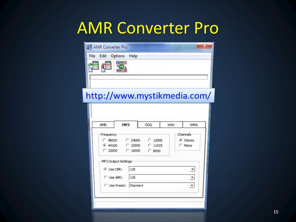 AMR Converter Pro http://www.mystikmedia.com/