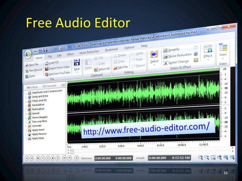 Free Audio Editor http://www.free-audio-editor.com/ Ez profi.