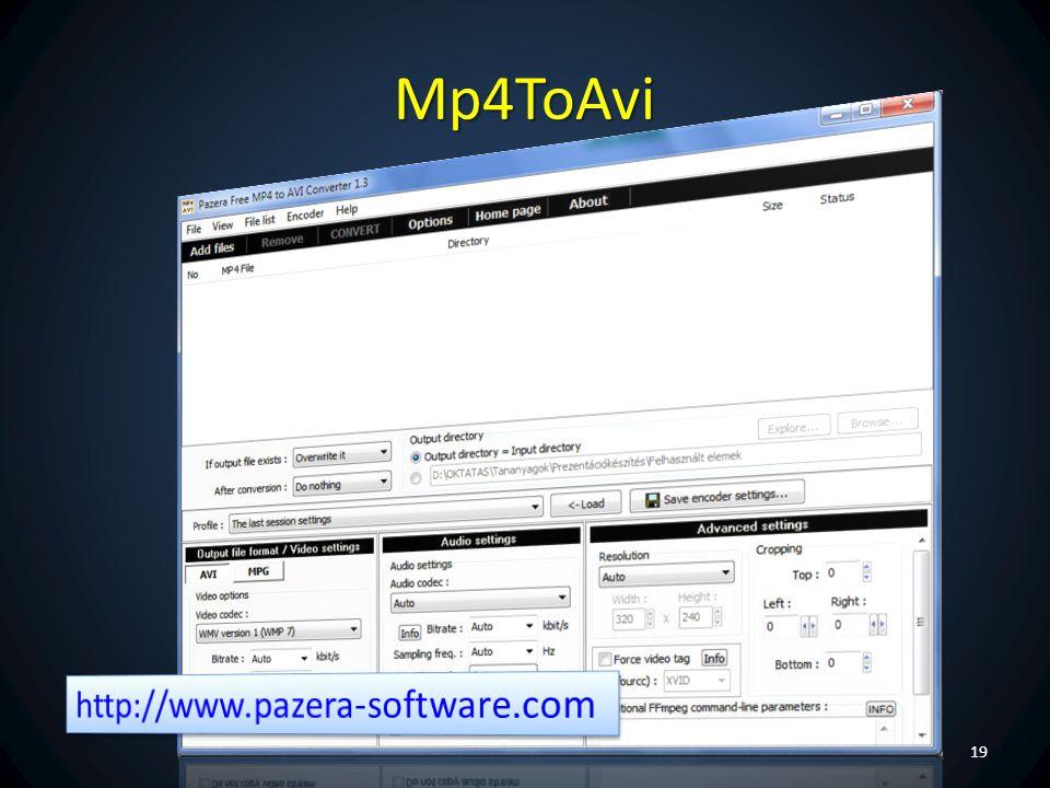 Mp4ToAvi http://www.pazera-software.com