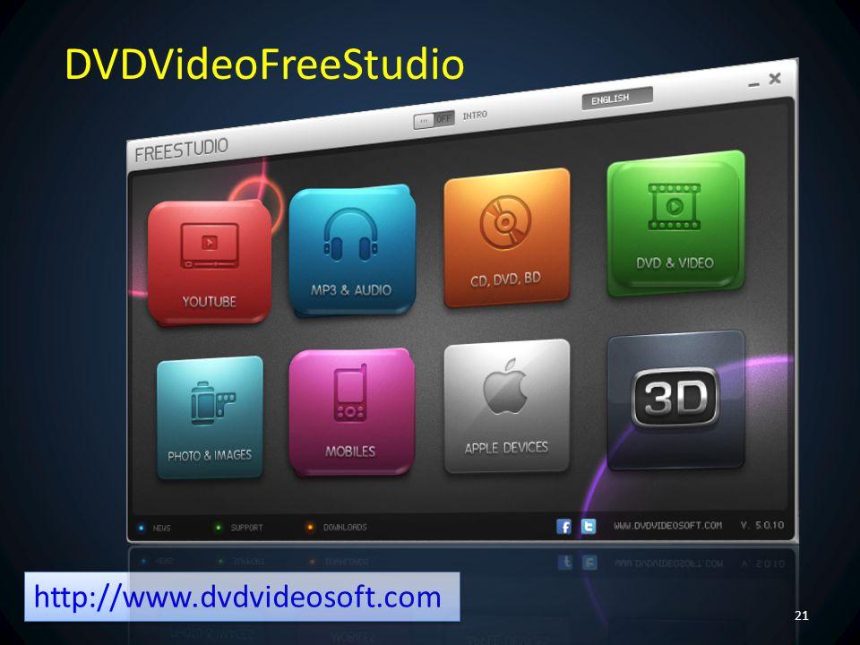 DVDVideoFreeStudio http://www.dvdvideosoft.com Néhány funkció: YouTube