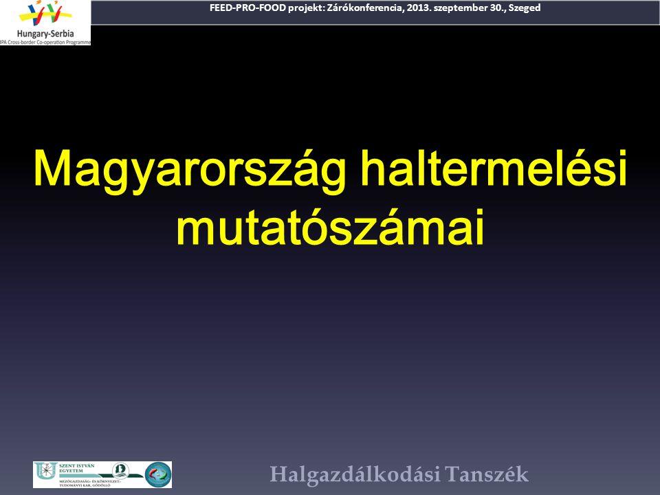 Magyarország haltermelési mutatószámai