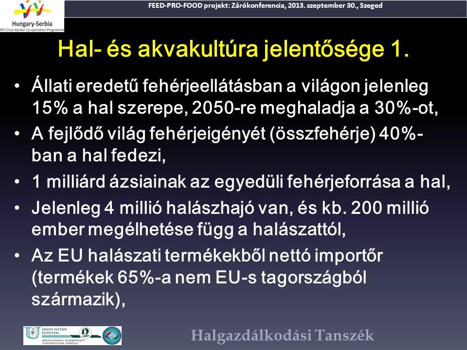 Hal- és akvakultúra jelentősége 1.