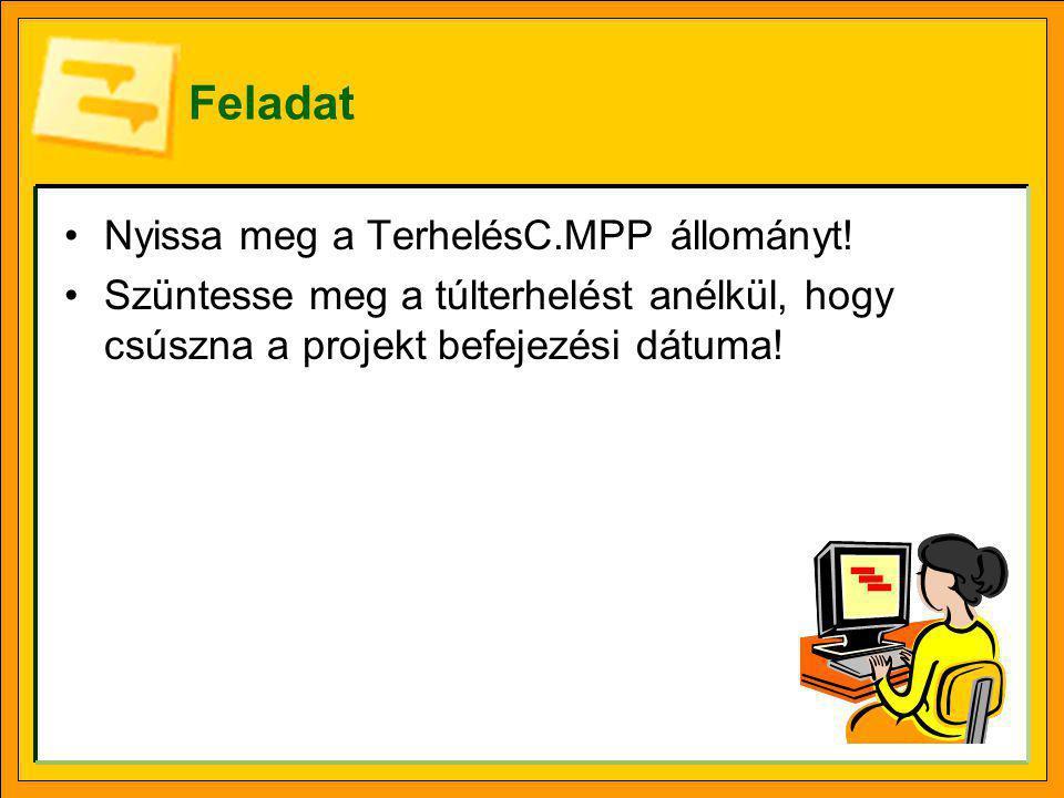 Feladat Nyissa meg a TerhelésC.MPP állományt!