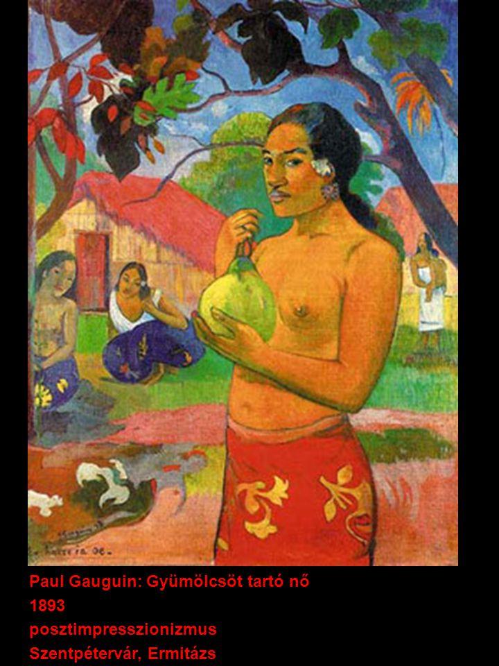 Paul Gauguin: Gyümölcsöt tartó nő