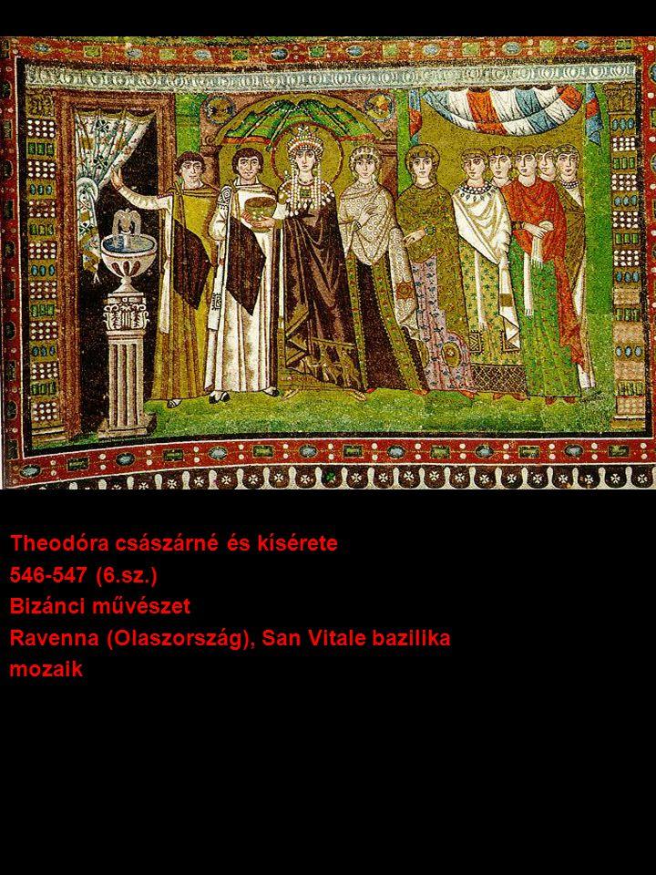 Theodóra császárné és kísérete