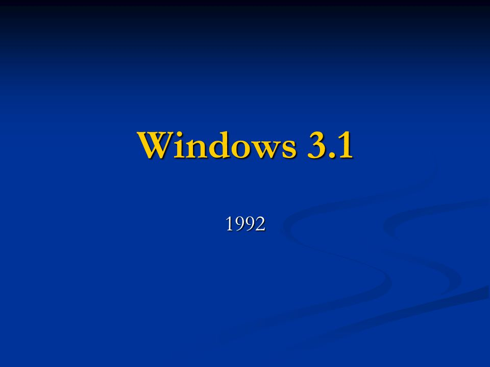 Windows 3.1 1992