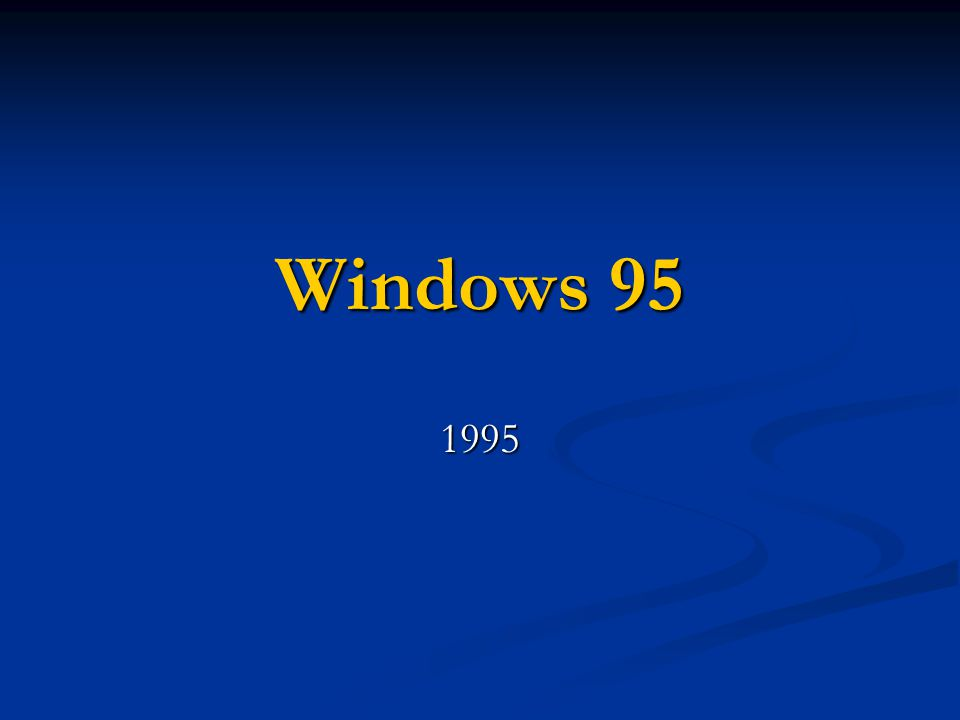 Windows 95 1995